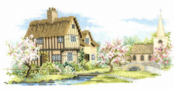 Blossom Lane Cross Stitch Kit